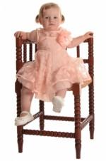 Baby/peuterjurkje oudroze met organza