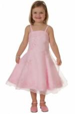 Feestjurk Meisjes roze met organza